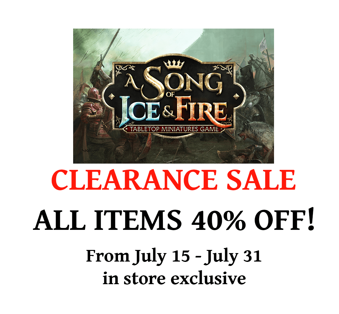 A Song of Ice and Fire: Tabletop Miniatures Game – Clearance Sale